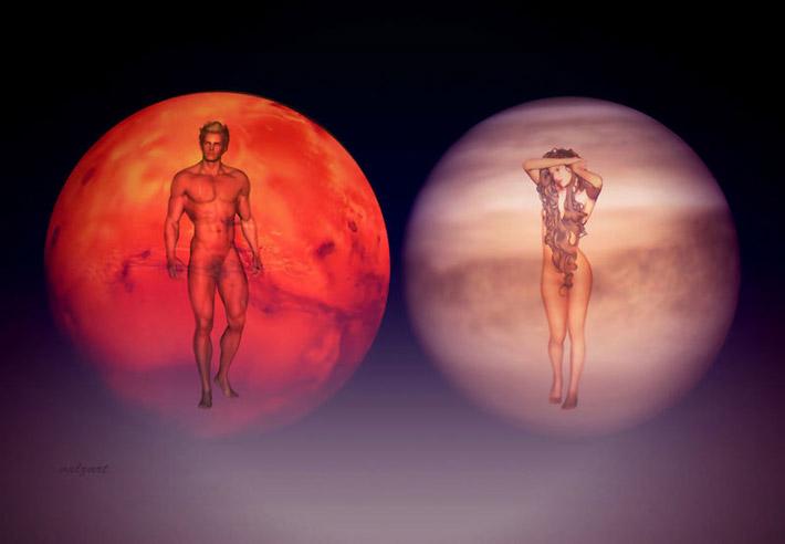 Mars i Venera
